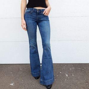 Lamb & Flag Flare jeans with slim leg low rise  25
